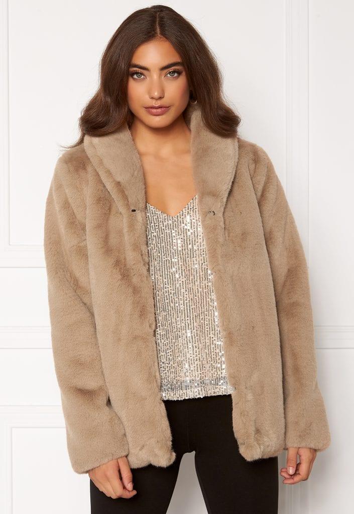 dry lake smoothie jacket 133 beige faux fur 2
