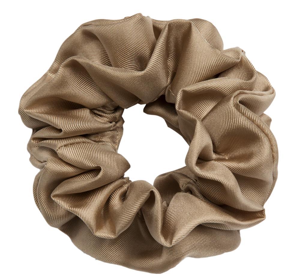 hermine hold solid silk scrunchie beige 2492 100 0002 1