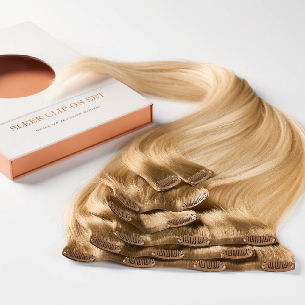 sleek clip on set 7 pieces c7.3 8.3 brilliant blonde colormelt detalj