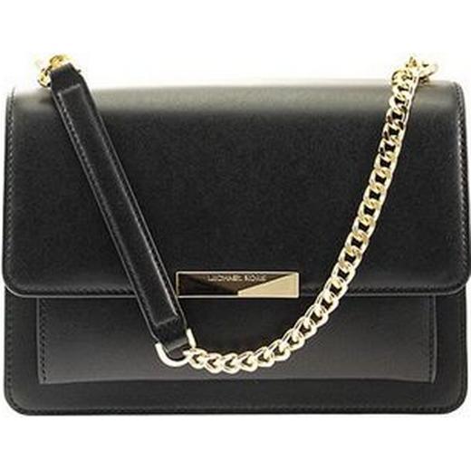 Michael Kors Jade Large Leather Crossbody Bag Black