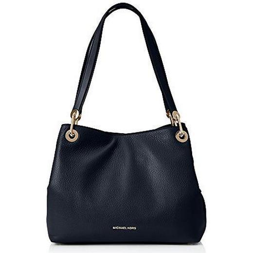 Michael Kors Raven Large Leather Shoulder Bag Black