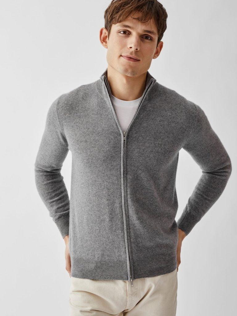 softgoat troja med dragkedja grey